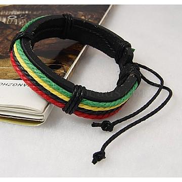 LimeGreen Imitation Leather Bracelets