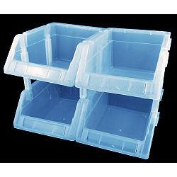 Perles en plastique affichent plateaux, bleu, 17x12x8 cm, 12 pièces / kit(C049Y-2)