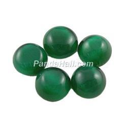 Cabochons d'œil de chat en verre, demi-rond / dôme, darkgreen, environ 12 mm de diamètre, épaisseur de 3mm(CE069-12-17)