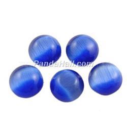 Стеклянный Кошка глаз кабошоны, полукруглые / купольные, темно-синие, диаметром около 18 мм , толщиной 4.8 мм (CE072-18-4)