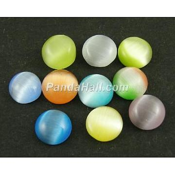 25mm Mixed Color Flat Round Glass Cabochons
