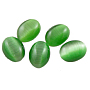 8mm Green Oval Glass Cabochons(CE039-6x8-7)