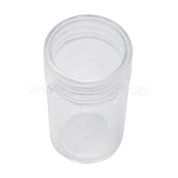 Пластиковые бисера контейнеры, бутылка, прозрачные, Размер : шириной около 26 мм , 48 мм длиной