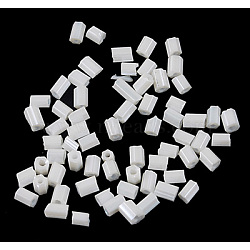 Two Cut Glass Seed Beads, Hexagon, WhiteSmoke, about 3mm long, 1.8mm in diameter, hole: 0.6mm, about 21000pcs/bag. Sold per package of one pound(CSDB141C)