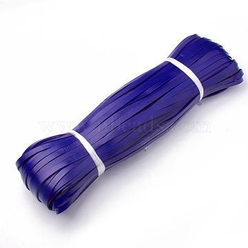 Cowhide Cord, Dark Blue, 5x2mm; about 100yard/bundle(300 feet/bundle)(WL-Q007-5x2-25)