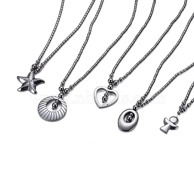 Non-magnetic Synthetic Hematite Necklaces(NJEW-G331-04)-2