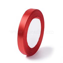 """Ruban de satin pour la décoration de partie bricolage hairbow, rouge, environ 1/2"""" (12mm) de large, 25yards / roll (22.86m / roll)(X-RC12mmY026)"""