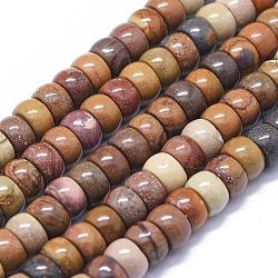 """Chapelets de perles en mookaite naturelles, rondelle, 8x5mm, trou: 1mm; environ 78 pcs/chapelet, 15.7"""" (40 cm)(G-K293-B07-B)"""