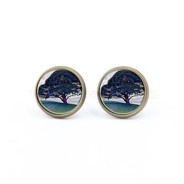 Colorful Glass Stud Earrings