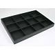 Stackable Wood Display Trays Covered By Black Leatherette(X-PCT106)-2