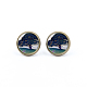 Picture Glass Stud Earrings(EJEW-O088-125)-1