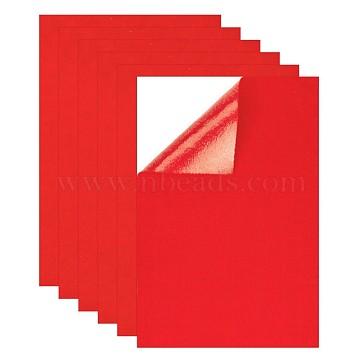 Self-adhesive Felt Fabric, DIY Crafts, Red, 20x30x0.08cm(X-DIY-WH0146-18C)
