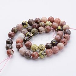 """Chapelets de perles de pierre gemme naturelle, rond, 8~9mm, trou: 1mm; environ 46 pcs/chapelet, 15.28""""(G-K152-07-8mm)"""
