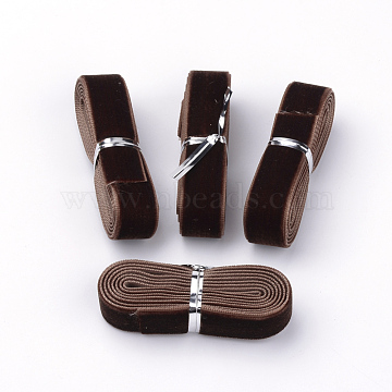 5/8 inch Single Face Velvet Ribbon, Coconut Brown, 5/8 inch(16mm), about 1.094yards/bundle(1m/bundle)(X-OCOR-R069-16mm-119)