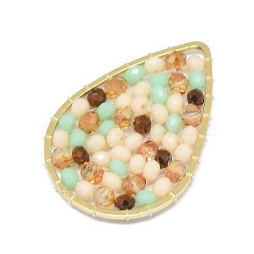 32mm Wheat Drop Glass Beads
