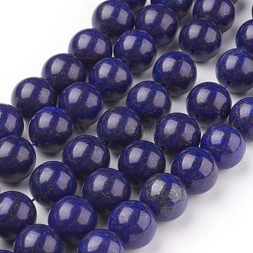 14mm Blue Round Lapis Lazuli Beads