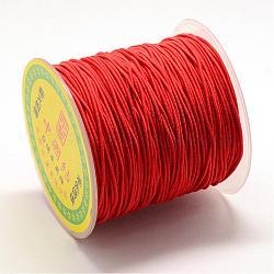 Эластичный шнур круглого, со слоем снаружи и резины внутри, красные, 0.8 мм; около 63~65 м / рулон(EC-R029-0.8mm-01)