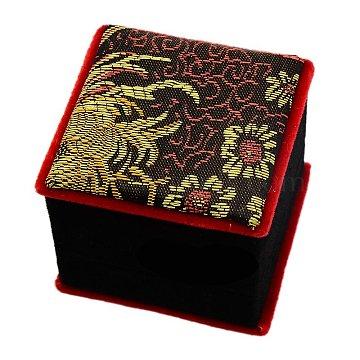 Black Square Silk Ring Box