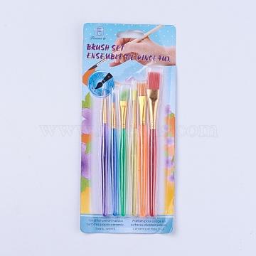Nylon Art Supplies Drawing Art Pen, Mixed Color, 136~157mm; 6pcs/set(AJEW-WH0096-97)