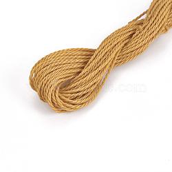 cordon de polyester ciré, verge d'or, 1 mm; sur 8.96~9 m / rouleau(YC-WH0005-16)
