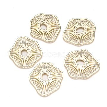 Alloy Filigree Joiners Links connectors, for Jewelry DIY Craft MakingLight Gold, 35.5x33x1mm (X-PALLOY-T067-86LG)