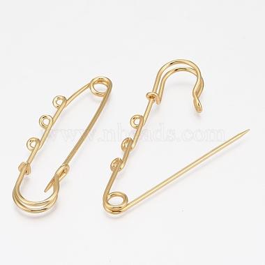 Rack Plating Brass Brooch Findings(KK-L006-040G)-2