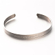 Love & Dream & Luck 304 Stainless Steel Cuff Bangles(BJEW-N263-01)-1