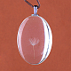 Flat Oval Alloy Glass Pendants(GLAA-Q050-25x35-01P)-2