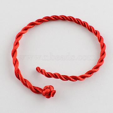 Red Nylon Bracelet Making