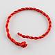 Braided Handmade Nylon Bracelet Cord(X-BJEW-R257-01)-1