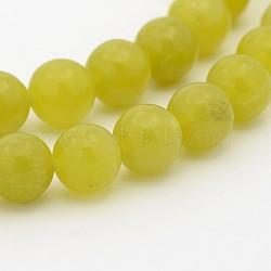 """Péridot naturel chapelets de perles rondes, 8mm, trou: 1mm; environ 49 pcs/chapelet, 15.7""""(G-P070-32-8mm)"""