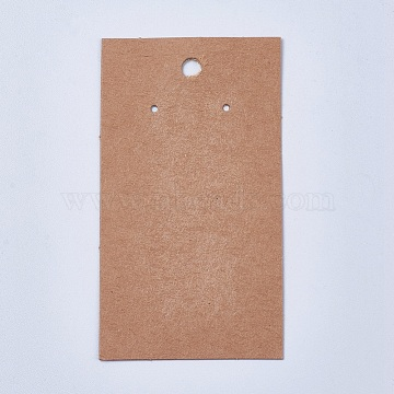 Paper Display Cards, Used For Earrings, Rectangle, Sienna, 90x50x0.1mm, Hole: 1~5mm(CDIS-TAC0001-01B)