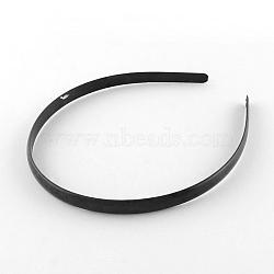 Accessoires de bande de cheveux en plastique, noir, 110~114x9~9.5mm(OHAR-S186-02)