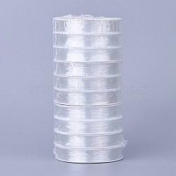 Fil de cristal élastiquefil de cristal élastique, cordon de perles extensible, pour la fabrication de bijoux en perles, clair, 0.8 mm; environ 10 m/rouleau(EW-S003-0.8mm-01)