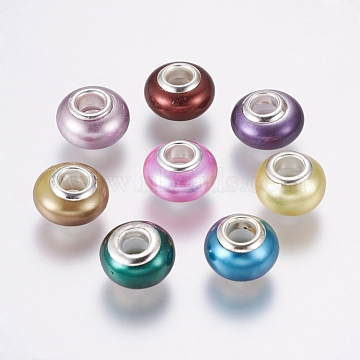 13mm Mixed Color Rondelle Shell Pearl Beads