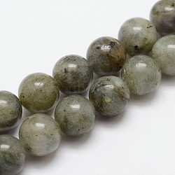 Natural Labradorite Bead Strands, Round, 8mm, Hole: 1mm; about 24pcs/strand, 7.7inches(X-G-O155-05B-8mm)