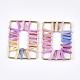 Handmade Raffia Woven Linking Rings/Pendants(WOVE-S120-05B)-2