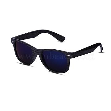 Trendy Sunglasses, Plastic Frames and Resin Lenses, Dark Blue, 14.3x4.8cm(SG-BB22046)