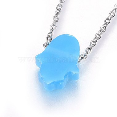 304 Stainless Steel Pendant Necklaces(NJEW-H491-04G)-3