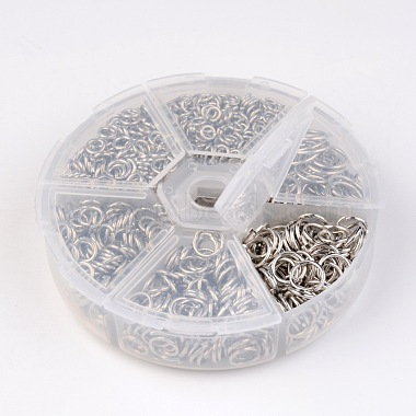 1600 pcs Iron Close but Unsoldered Jump Rings(IFIN-MSMC010-04P)-4