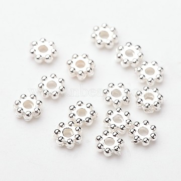 4mm Snowflake ABS Plastic Spacer Beads