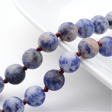 Natural Blue Spot Jasper Necklaces(NJEW-D264-14)-2