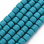 Dark Turquoise Column Polymer Clay Beads(CLAY-T001-C42)