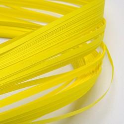 Bandes de papier quilling, jaune, 390x3mm; à propos 120strips / sac(X-DIY-J001-3mm-B16)