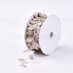 Cloth Cords, Ornament Accessories, Leaf, IndianRed, 42mm; about 20m/roll(FIND-T057-10A)