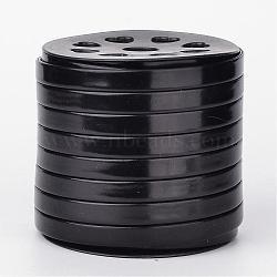 Cordon plat en cuir PU, noir, 10x2mm; environ 25yards / roll (22.86m / roll)(LC-K003-10mm-02)