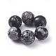 Natural Snowflake Obsidian Beads(G-G782-07)-1