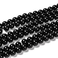 Natural Obsidian Beads Strands, Round, 8mm, Hole: 1mm, about 51pcs/strand, 15.35 inches