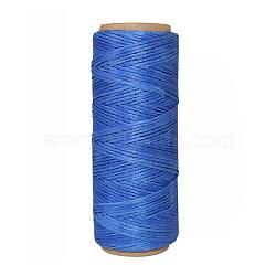 Cordons de fils en polyester, cornflowerblue, 1 mm; environ 50 m/rouleau(YC-E001-1mm-01E)