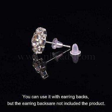 Clear Soft Plastic Earring Back Stopper Ear Nuts(X-E131)-3